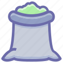 food, food sack, grocery, ingredient, salt sack, sugar bag, sugar pack icon
