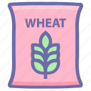 bag, flour, food, grain, wheat, wheat bag, wheat sack icon