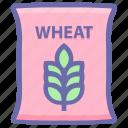 wheat, food, flour, wheat sack, wheat bag, bag, grain
