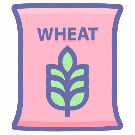 Bag, flour, food, grain, wheat, wheat bag, wheat sack icon - Download on Iconfinder