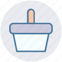 basket, bucket, food basket, fruit bucket, hotel basket, pail, shopping basket icon