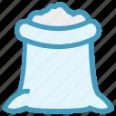 food, food sack, grocery, ingredient, salt sack, sugar bag, sugar pack