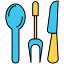 utensils, cook, fork, gastronomy, knife