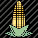 cinema, corn, farm, healthy, vegetable icon