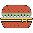 burger, cooking, hamburger, meal, pot, sandwich, yumminky icon