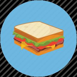 bread, fast, food, sandwich icon