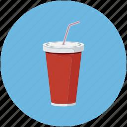 beverage, cola drink, drink, glass icon