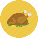 chicken, food, roast, roasted chicken icon