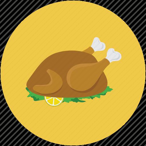 chicken, food, roast, roasted chicken icon