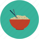 chinese food, chopsticks, food, food bowl icon