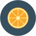 citrus, food, fruit, half orange citrus icon