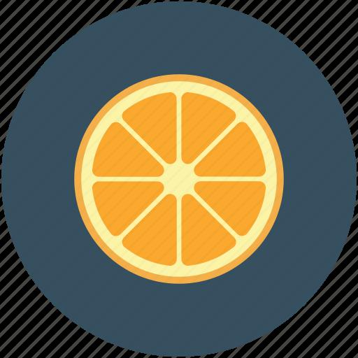 citrus, food, fruit, half orange citrus icon