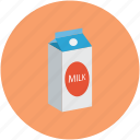dairy food, milk, milk carton, milk carton pack icon