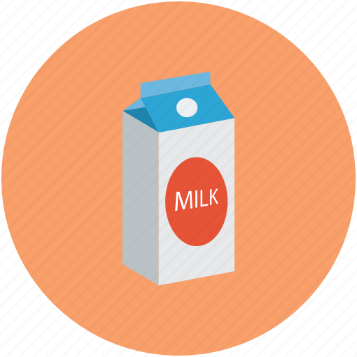 dairy food, milk, milk carton, milk carton pack icon
