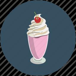 dessert, food, ice cream, ice cream cup icon