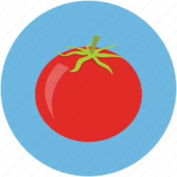 food, red, tomato, vegetable icon