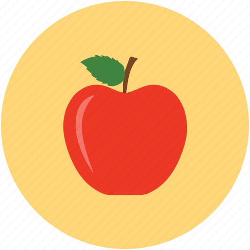 apple, food, fresh apple, fruit icon