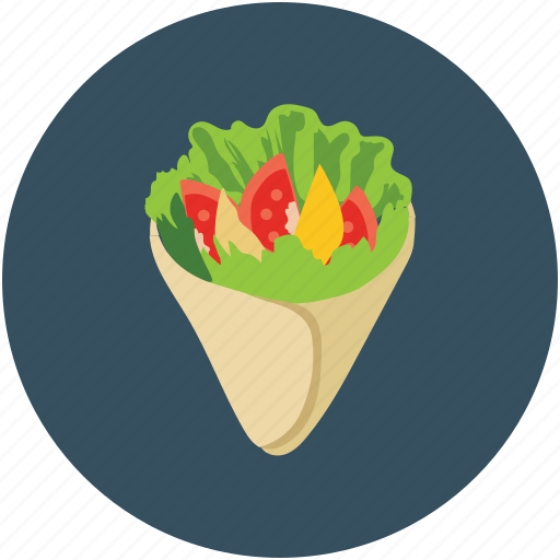 food, fresh spring roll, salad roll, vietnamese food icon