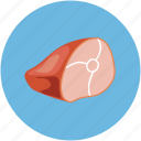 food, meat, meat slice, slice icon