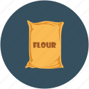 food, flour, flour sack, flour bag