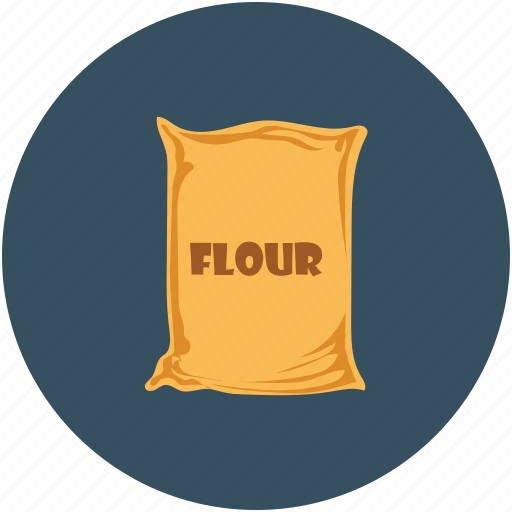 flour, flour bag, flour sack, food icon