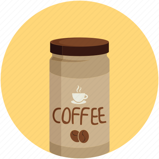 coffee, coffee jar, instant coffee, jar icon