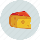 cheese, cheese slice, portion of cheese, piece of cheese