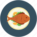 food, fish, sea food, cooked fish icon