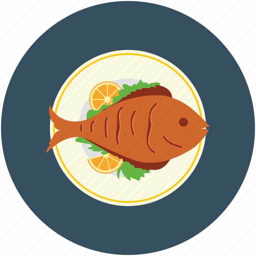 cooked fish, fish, food, sea food icon