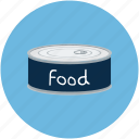 can of food, canned food, food, food can icon