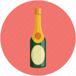 alcohol, bottle, drink, wine icon