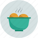food, food bowl, food in bowl, hot food icon