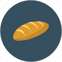 baguette, bread, breakfast, food icon