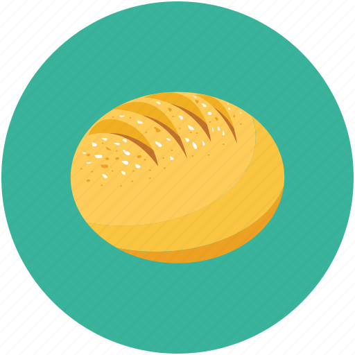 baguette, bread, breakfast, food icon