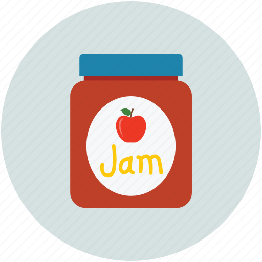 food, jam, jar, jar of jam icon