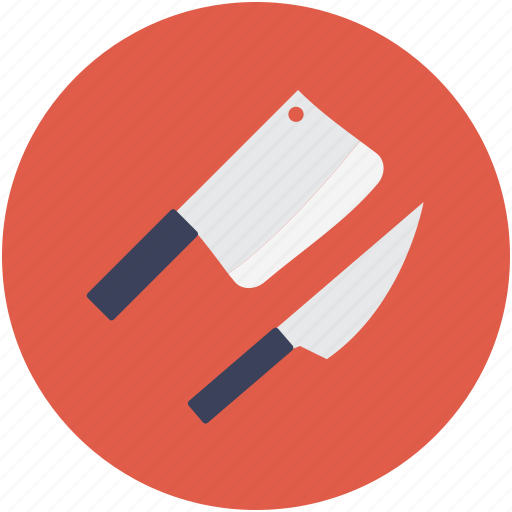 cleaver knife, knife, meat cleaver knife, meat knife icon