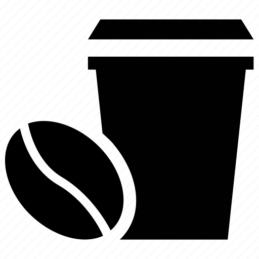 coffee, coffee bean, hot coffee, paper cup icon