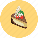 cake, cake piece, fresh cake, slice icon
