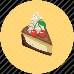 cake, cake piece, fresh cake, slice icon