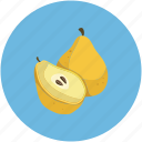 food, fruit, pear icon