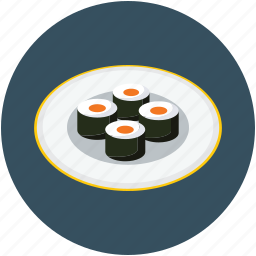 food, japanese, seafood, sushi icon