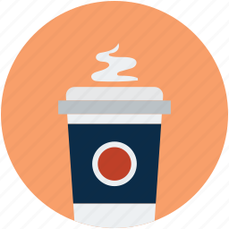 coffee cup, disposable cup, hot coffee, paper cup icon