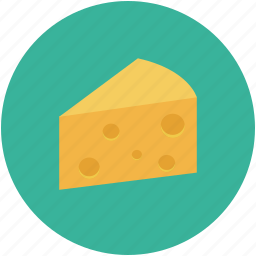 cheese, cheese slice, dairy food, portion of cheese icon