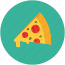food, pizza, pizza slice, slice