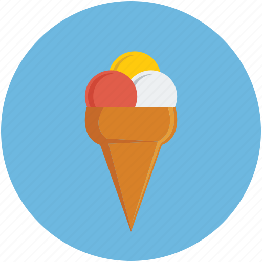 cone, dessert, ice balls, ice cream icon