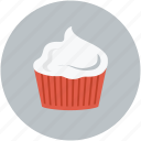 cream, cream inside cup, dessert, whipped cream icon