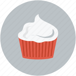 cream, cream inside cup, dessert, whipped cream icon