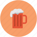 alcohol, beer, beer mug, mug of beer icon