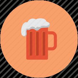 alcohol, beer, beer mug, mug of beer icon
