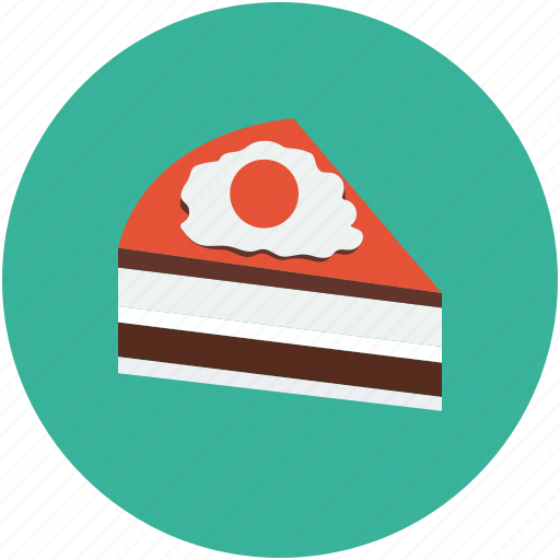cake, cake slice, dessert, piece of cake icon